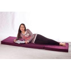 Pouf Relax POINT - rouge foncé