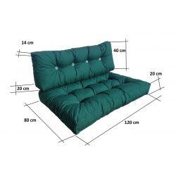 Housse pour le sofa matelas 200x120x10 cm-1331