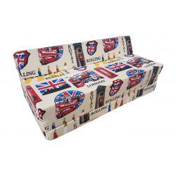 Housse pour pouf Relax POINT - jaune foncé