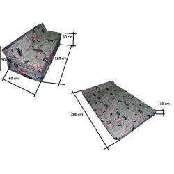 Housse pour pouf Relax POINT - gris